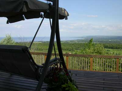 view deck swing
